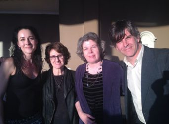 DeLauné with Delia Ephron, Meg Wolitzer, and Jason Porter